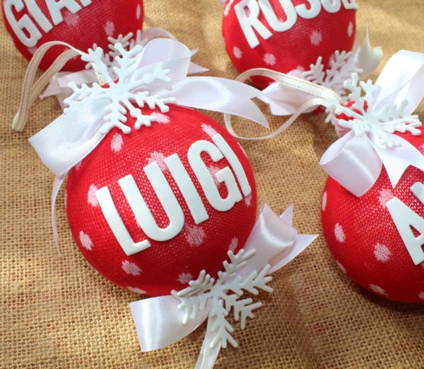 Pallina Natale con Nome in Fommy