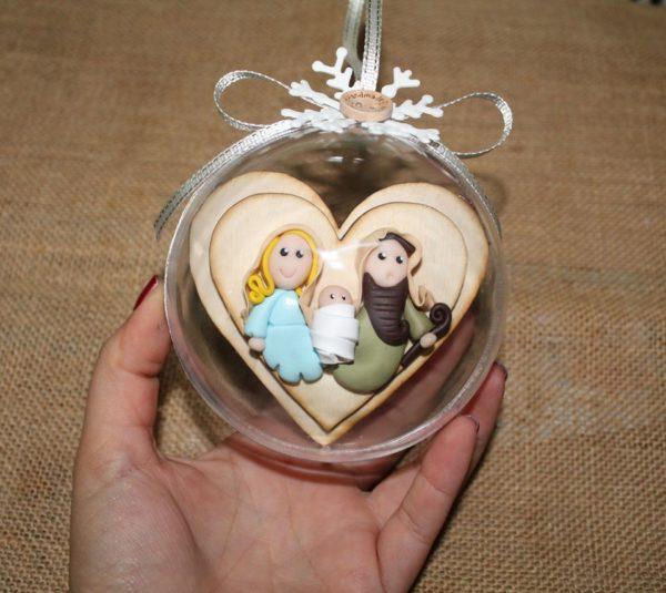 Pallina Natale Trinità in Fimo