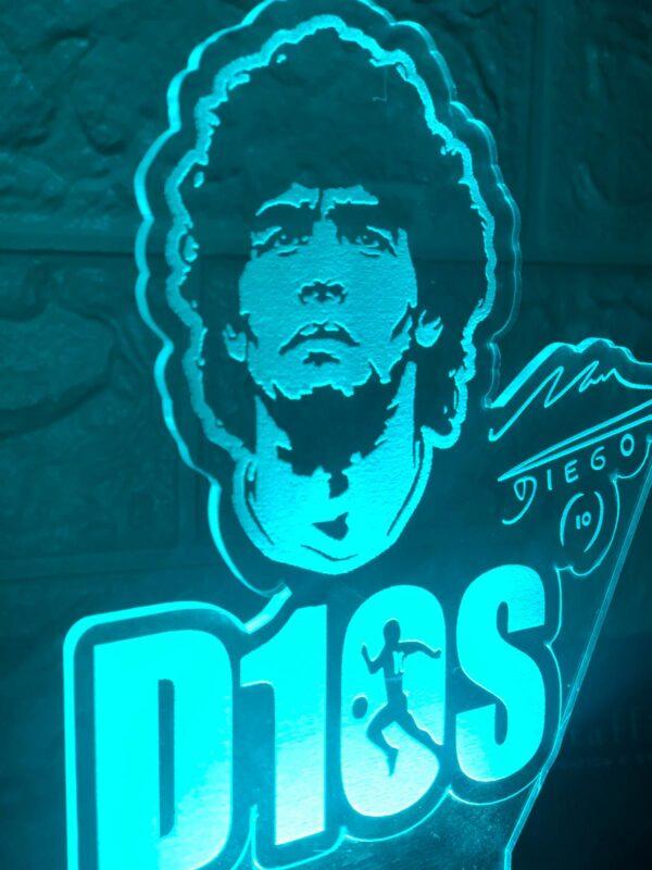 Lampada Maradona LED 2