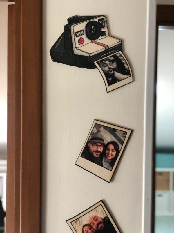 Foto legno in stile Polaroid